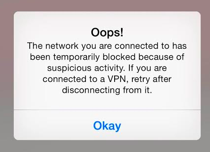 VPNs and Blocked Networks
