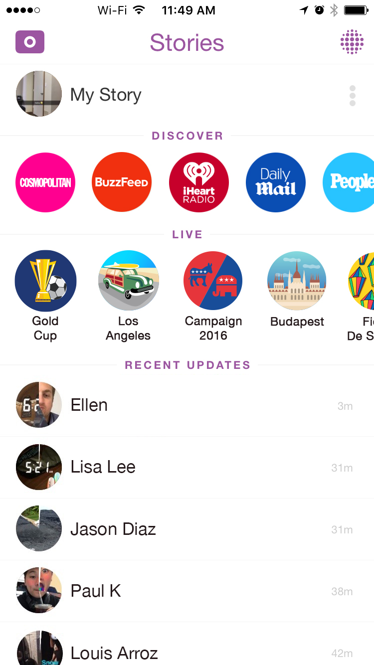 Snapchat | Support : Viewing Stories